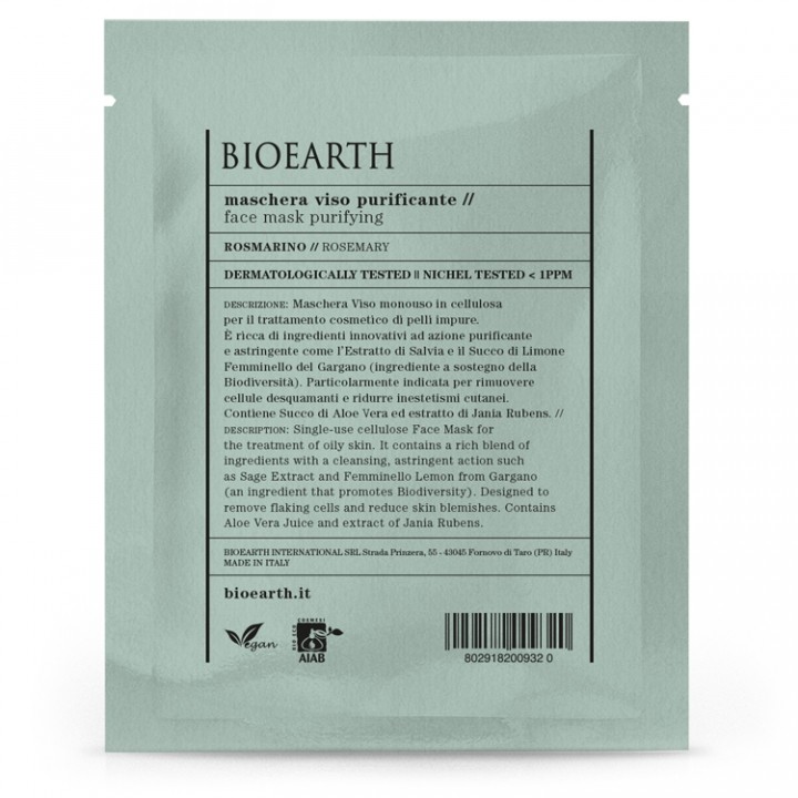Bioearth Face Mask Purifying i gruppen Bioearth hos Nails, Body & Beauty (1013)