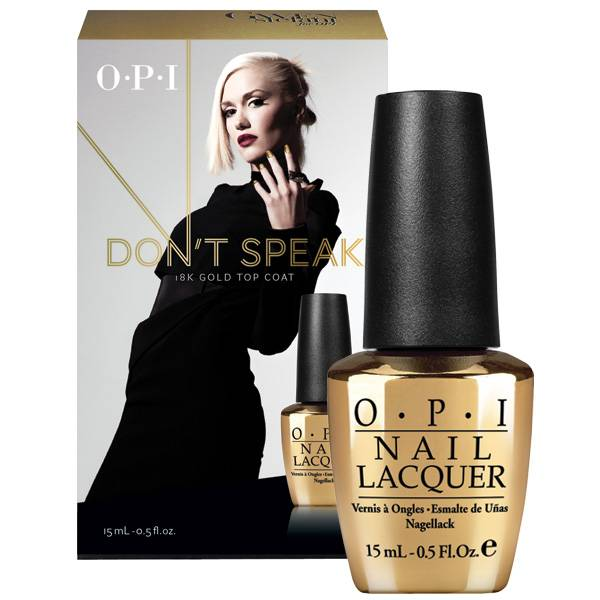 OPI Gwen Stefani Don´t Speak Pure 18K Gold Top Coat i gruppen OPI / Nagellack / Gwen Stefani hos Nails, Body & Beauty (4160)