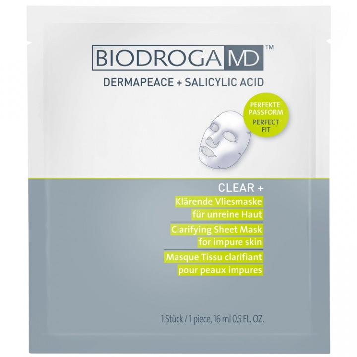 Biodroga MD Clear + Clarifying Sheet Mask for Impure skin i gruppen Biodroga MD / Clear + hos Nails, Body & Beauty (45453)