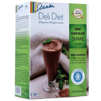 Slanka Deli Diet Mintchoklad 6-Pack i gruppen SLANKA Deli Diet hos Nails, Body & Beauty (4749)