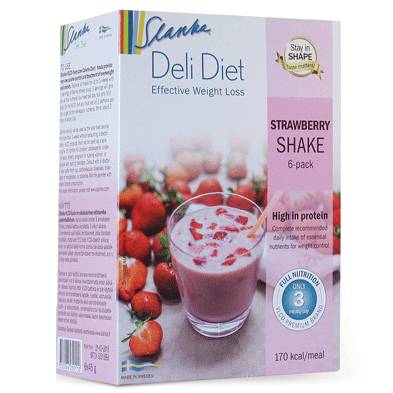 Slanka Deli Diet Jordgubb Shake 6-Pack i gruppen SLANKA Deli Diet hos Nails, Body & Beauty (4750)