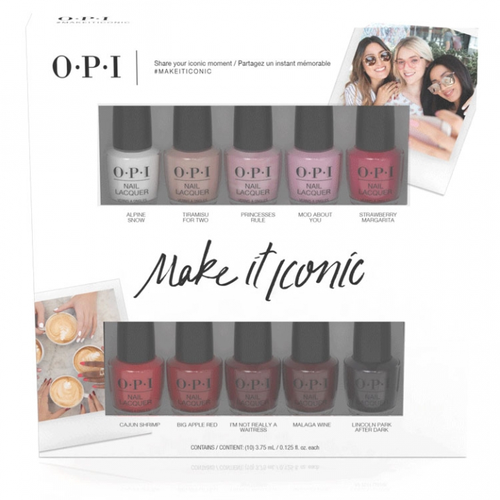 OPI Make It Iconic 10-Pack Mini i gruppen OPI / Nagellack / Övrigt hos Nails, Body & Beauty (DDI02)