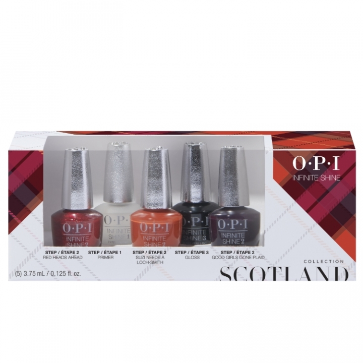 OPI Scotland Infinite Shine 5-pack Mini i gruppen OPI / Infinite Shine Nagellack / Scotland hos Nails, Body & Beauty (ISDU1)